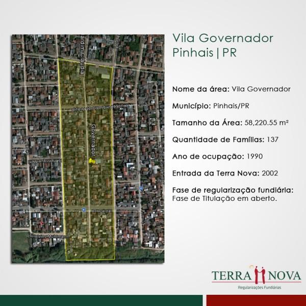 Mapa Vila Governador